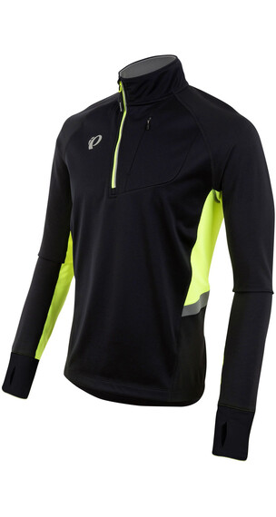 PEARL iZUMi Pursuit Wind Thermal Hardloopshirt lange mouwen Heren geel/zwart